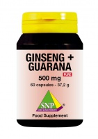 Ginseng + Guarana  500 mg Pure